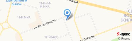 Аверс на карте Сургута