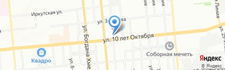 Град на карте Омска