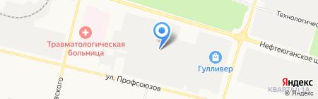 Югратрубопроводмонтаж на карте Сургута