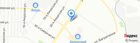 Аптека от склада на карте Омска