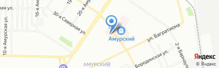 Юничел на карте Омска