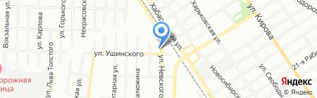 Шиномонтаж на Невского на карте Омска