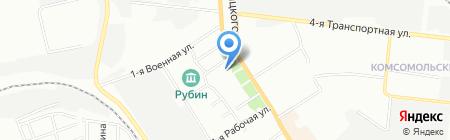 Рубин на карте Омска
