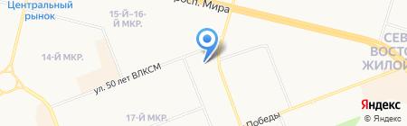 Адвокатский кабинет Новоселовой И.Д. на карте Сургута