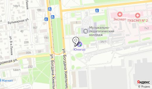 АЗС Лукойл. Схема проезда в Омске