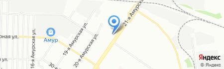Средняя общеобразовательная школа №15 на карте Омска