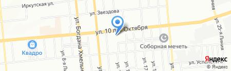 Оазис одежды и обуви на карте Омска