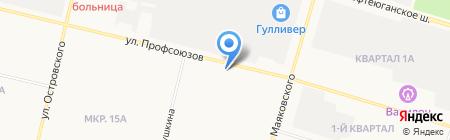 Рыболов-профи на карте Сургута