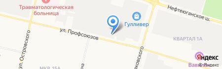 Автопилот на карте Сургута