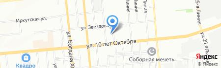 Лига на карте Омска