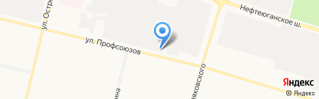 SURGUTАВТО на карте Сургута