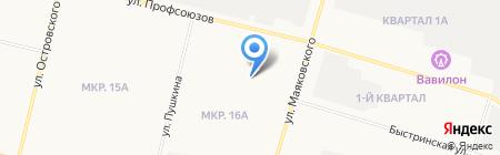 Треугольник на карте Сургута