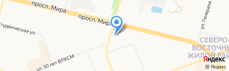 Бис на карте Сургута