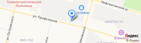 Фотоателье на карте Сургута