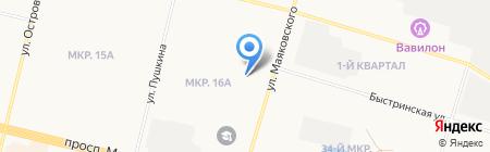 Магазин косметики и бытовой химии на карте Сургута