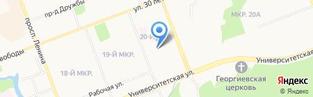 Беринг на карте Сургута