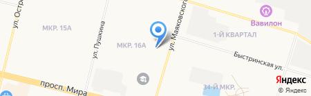 Ярмарка на карте Сургута