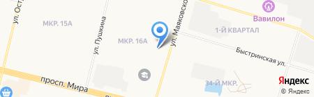 Сателлит на карте Сургута