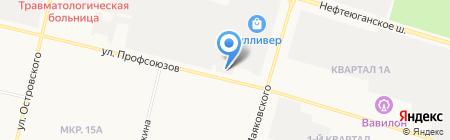 ДЕЛОВАЯ РУСЬ на карте Сургута