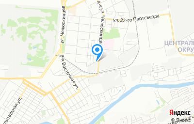 Местоположение на карте пункта техосмотра по адресу г Омск, ул 4-я Челюскинцев, д 1, пом 23П