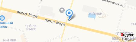 Магазин мясной продукции на проспекте Мира на карте Сургута