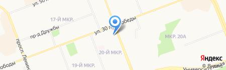 Эдем на карте Сургута