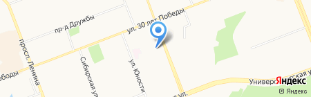 Лик на карте Сургута