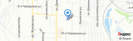 Свердловский на карте Омска