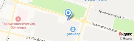 Ковровый дом на карте Сургута