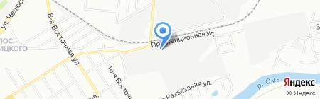 ТиКА на карте Омска