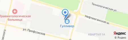 Просто на карте Сургута