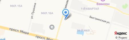 Жасмин на карте Сургута