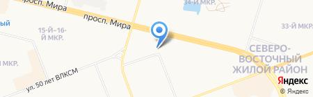 Продуктовый магазин на проспекте Мира на карте Сургута