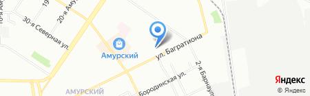 Ветеринарная клиника на Багратиона на карте Омска