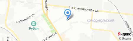 Автобюро Совмарка на карте Омска