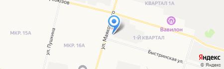 Ханты-Мансийскдорстрой на карте Сургута