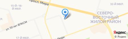 Ермолино на карте Сургута