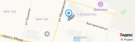 Даша на карте Сургута