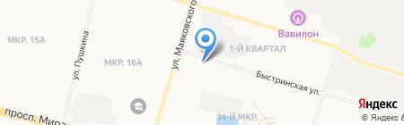 Advance на карте Сургута