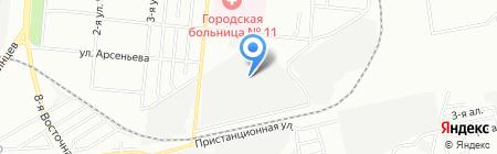 Зенит на карте Омска
