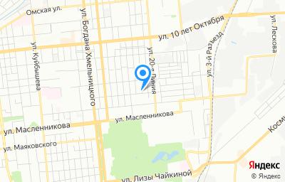 Местоположение на карте пункта техосмотра по адресу г Омск, ул Съездовская, д 147
