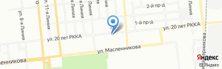 Парковый на карте Омска