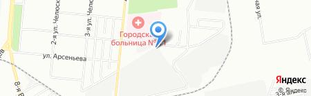 Автотема на карте Омска