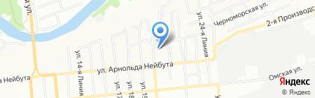 ИС-технология на карте Омска