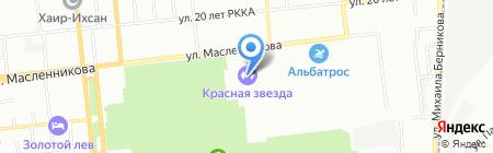 Спорт-меню на карте Омска