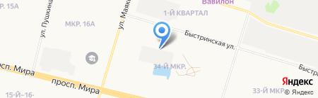 Авангард на карте Сургута