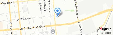 Орехов на карте Омска