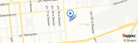 Сбербанк России на карте Омска