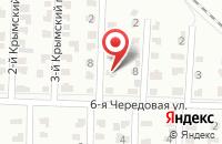 Схема проезда до компании Крымский квартал в Ягодном