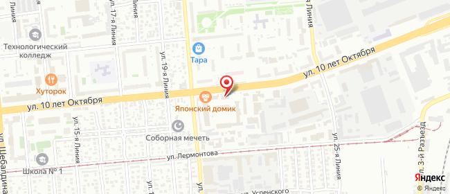 Карта расположения пункта доставки Омск 10 лет Октября в городе Омск